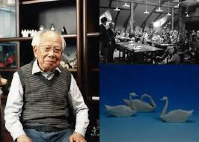 Акира Ёсидзава, 14 марта 1911 - 14 марта 2005. Японец работал чертежником за заводе, и для обучения новичков начертательной геометрии в своих уроках использовал оригами - складывал бумагу, объясняя то или иное геометрическое действие.