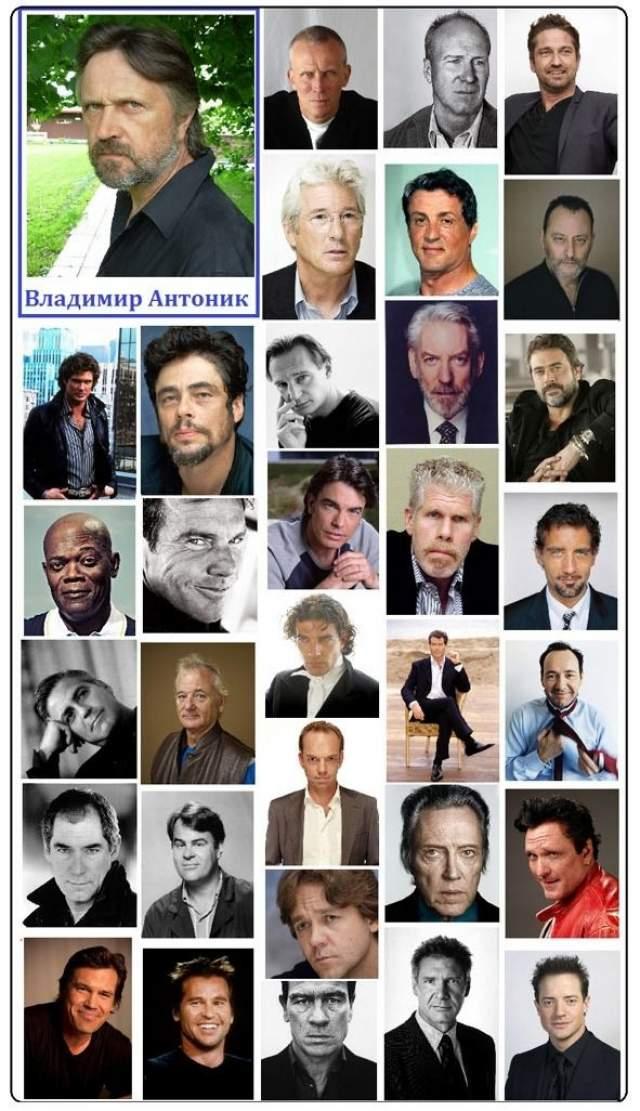 А всего на его счету около 700 работ: озвучка Шварценеггера, Сталлоне, Гибсона, Ричарда Гира, Алена Делона, Харрисона Форда и других звезд Голливуда.
