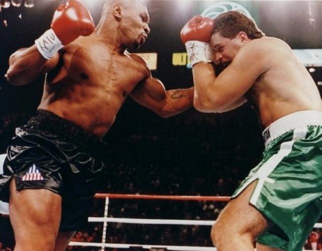 Свой первый бой после возвращения из тюрьмы Тайсон провел 19 августа 1995 года против потомственного боксера Питера Макнили. Уже в первом раунде Макнили дважды побывал на полу, и был дисквалифицирован за то, что его секунданты выскочили на ринг.
