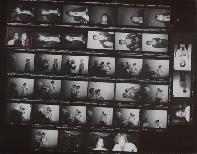 Пробная печать кадров с Лайзой Минелли, Джоном Ленноном и Виктором Хьюго.