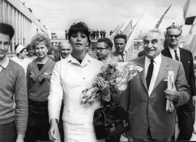 1965 год, первый визит Софи Лорен в российскую столицу для участия в IV Московском международном кинофестивале.