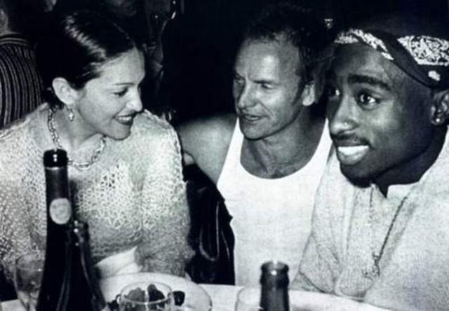 Мадонна, Стинг и Тупак Шакур.