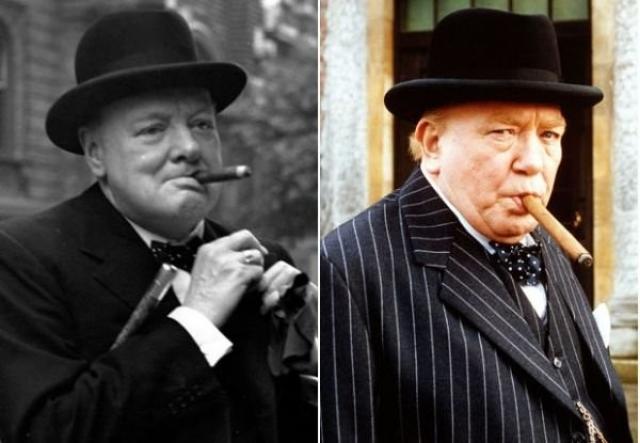 "Уинстон Черчилль и Альюерт Финни , ""Надвигающийся шторм""."