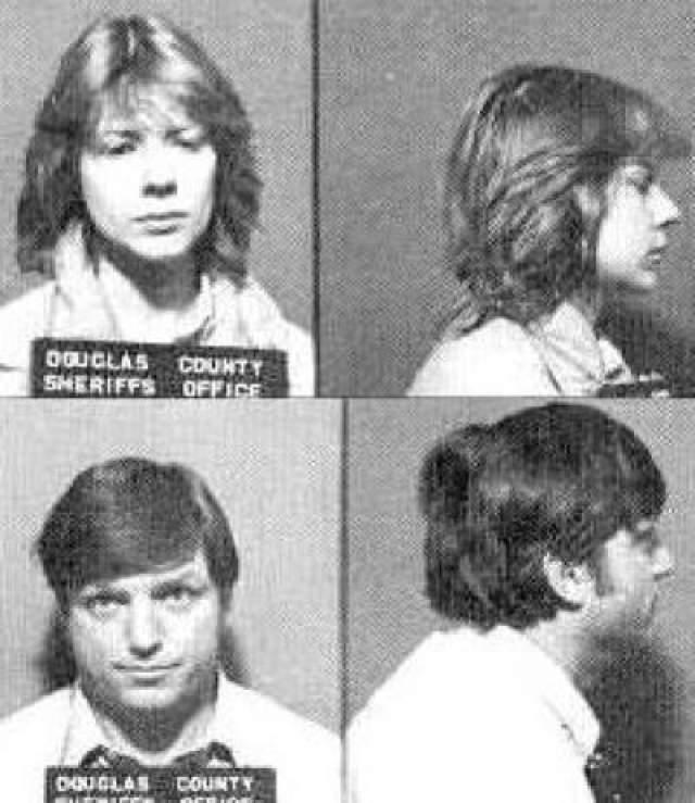 Пара похищала девушек (самой младшей было 13), часами насиловала, а затем убивала. Так продолжалось до тех пор, пока они не похитили молодую пару на парковке. На фото, Тюремные фото Шарлин и Джеральда Галлего