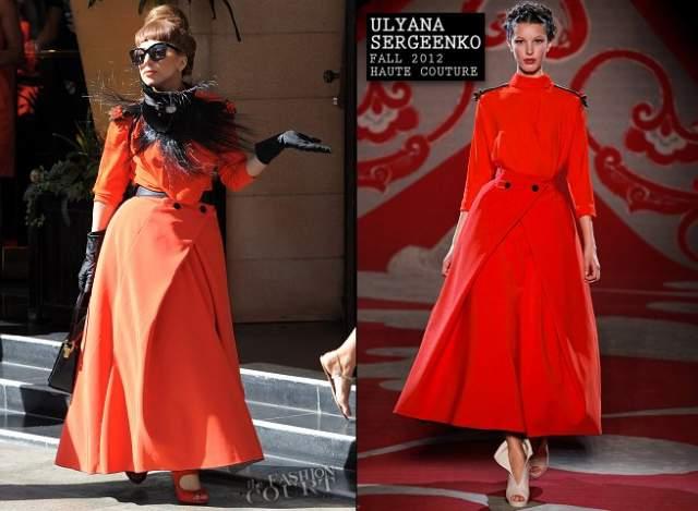 Поп-певица Леди Гага подружилась с Сергеенко и часто демонстрирует ее творения на светских мероприятиях.