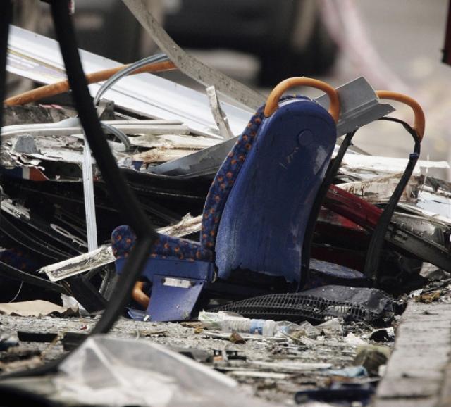 Почти через час, в 9:47, раздался четвёртый взрыв в автобусе на Тэвисток-сквер.