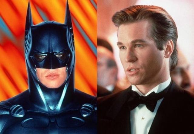 """Вэл Килмер. Пожалуй, самая известная картина ,в которой он снялся - блокбастер 1995 года """"Бэтмен навсегда"""". Затем, снявшись в середине 90-х в триллере """"Схватка"""", Вэл продолжил сниматься в боевиках."""