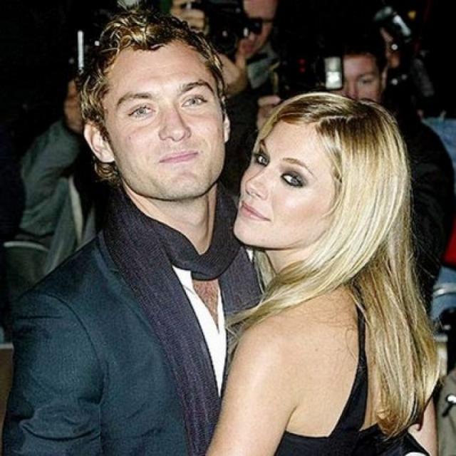 Актер стал жертвой обаяния 30-летней актрисы из Голливуда Сиенны Миллер. Их роман развивался прямо на съемочной площадке комедии Альфи в 2003 году.