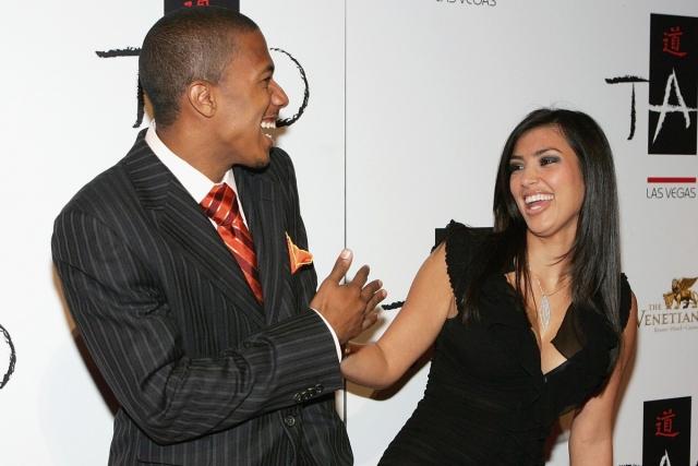 Ким Кардашян и Ник Кэннон. Светская львица и будущий супруг Мэрайи Кери начали встречаться в конце 2006.