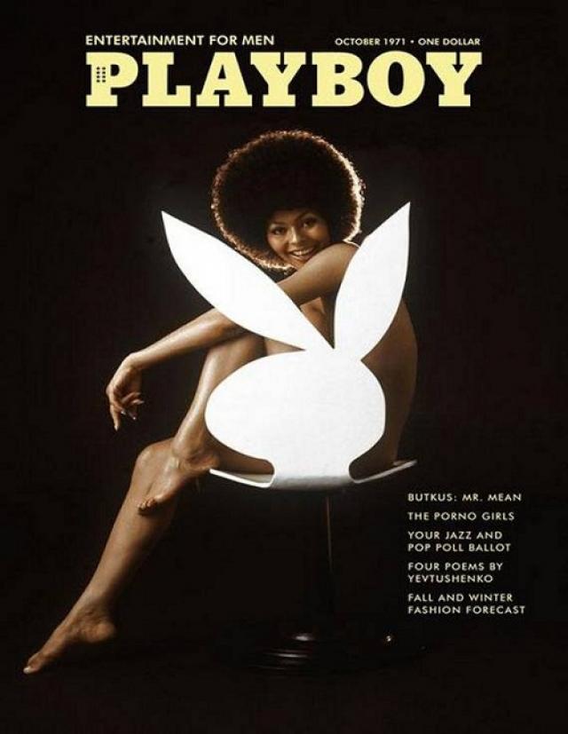 Playboy, октябрь 1971. Дарин Штерн, первая афро-американская модель, появившаяся на обложке Плейбоя.
