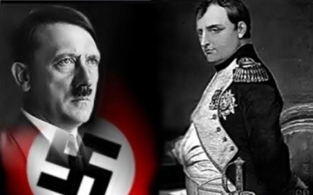 Гитлер повторил судьбу Наполеона через 129 лет Наполеон родился в 1760 г. Гитлер родился в 1889 г. (разница 129 лет) Наполеон пришел к власти в 1804 г. Гитлер пришел к власти в 1933 г. (разница 129 лет) Наполеон вошел в Вену в 1812 г. Гитлер вошел в Вену в 1941 г. (разница 129 лет)
