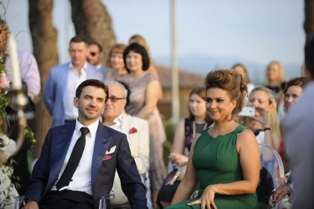 Позже девушка стала женой Михаила Абызова. На фото: Абызов с бывшей женой Екатериной в Италии на свадьбе сына в 2015 году.