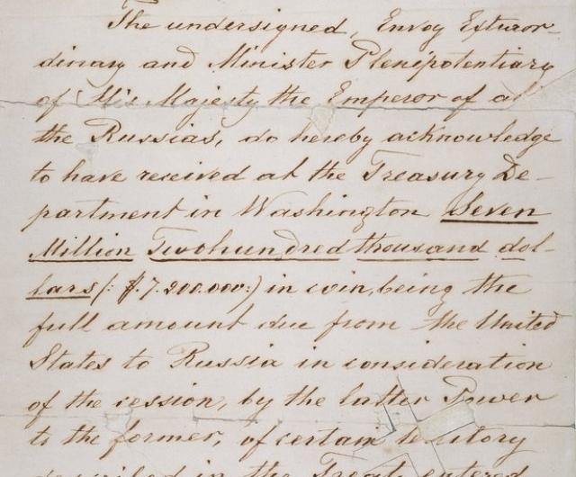 Официального текста договора о продаже Аляски на русском языке нет. Сделка не была одобрена Российским сенатом и Государственным советом, поэтому ее правомерность можно оспорить.