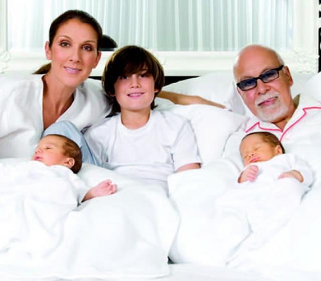 К сорока двум годам с помощью репродуктивных процедур она стала счастливой мамой целых три раза. В январе 2001 года Селин родила мальчика Рене-Шарля, а спустя десять лет еще двух сыновей - близнецов Нельсона и Эдди.