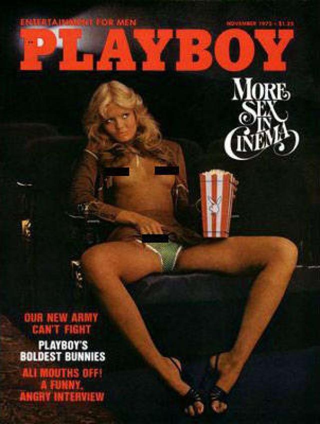 """Вызывающая обложка Playboy стала плодом борьбы Хью Хефнера с более откровенным журналом """"Пентхаус"""". Впоследствии он выразил свое сожаление о том, что зашел так далеко."""