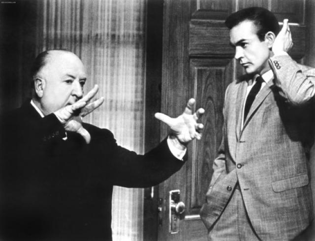 Альфред Хичкок и Шон Коннери.