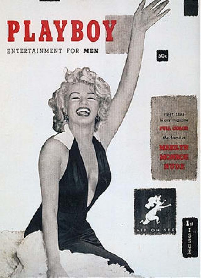 Playboy с Мэрилин Монро на обложке вызвал скандал тем, что женщина никогда не позировала для него, а обнаженные фото, размещенные внутри были сделаны еще на рассвете ее карьеры, когда ей нужны были деньги.