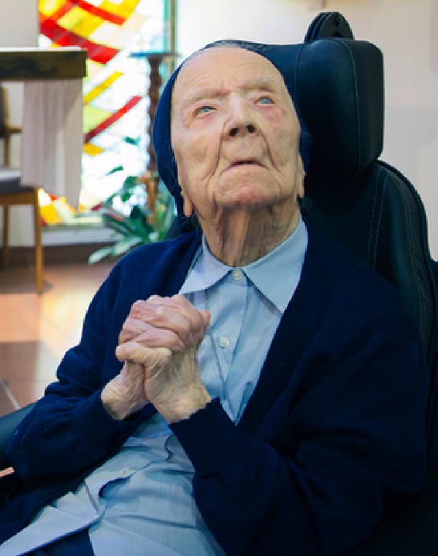 Люсиль Рандон из Франции 11 февраля отметила свой 115-й день рождения.