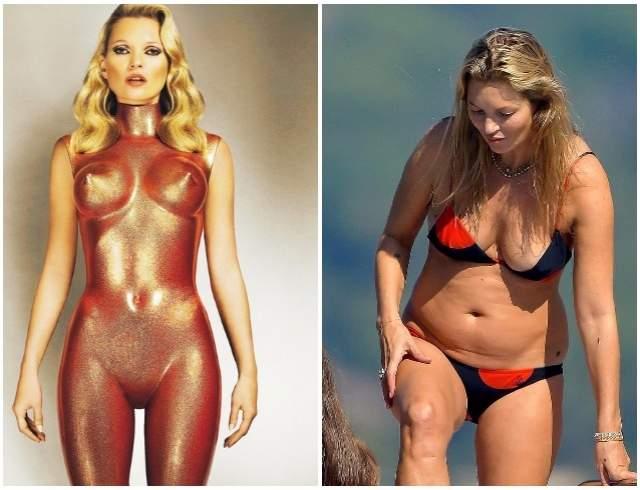 Кейт Мосс, 44 год. Топовая из самых топовых моделей прошлых лет в последние годы сдала свои позиции. Вплоть до того, что не появляется в качестве героини ни на одной обложке. Только в качестве гостьи на показах.
