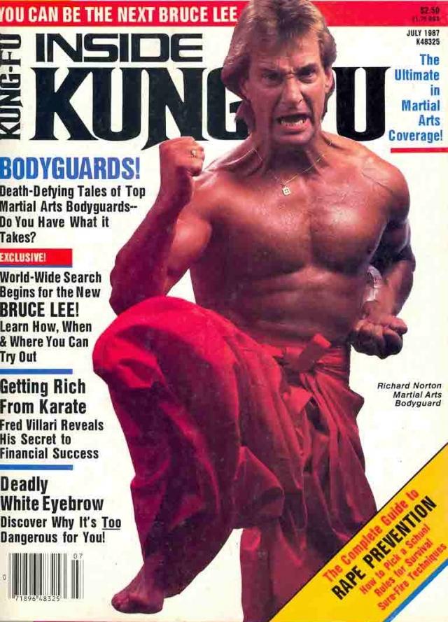 Ричард Нортон. Актерское дарование и умение драться помогли Ричарду быстро войти в рейтинг лучших актеров-бойцов в мире. После китайских боевиков, где он был партнером Джеки Чана, за ним прочно закрепилась репутация мастера боевых сцен.
