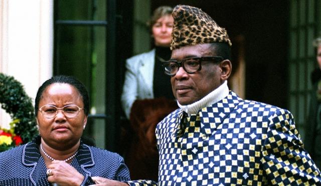 """Мобуту Сесе Секо. Этот правитель откликался на имя """"воин, идущий от победы к победе, и никто не может его остановить"""". Политик отличался страстью к ярким нарядам с геометрическими принтами и неизменным атрибутом - национальной шапочкой."""