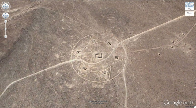 Странные знаки в пустыне Невада, США
