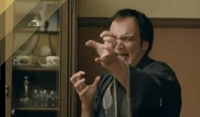 Квентин Тарантино изображал странноватого самурая в рекламе Softbank.