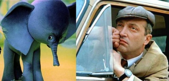 """""""38 попугаев"""", 1976 год. Слоненок - Михаил Козаков."""
