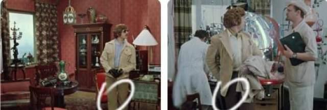 Воришка меняет в квартире Шпака свою одежду на хозяйские пиджак, штаны и рубашку. Свою курточку он забирает с собой, а вот рубашку и штаны решил оставить на месте преступления?