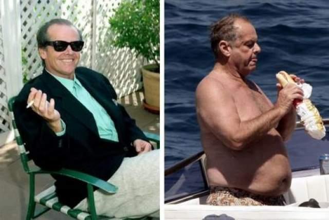 Джек Николсон Сердцеед Джек Николсон был заснят на яхте во Франции во всей красе: с отвисшим пузом и с огромным сандвичем в руках.