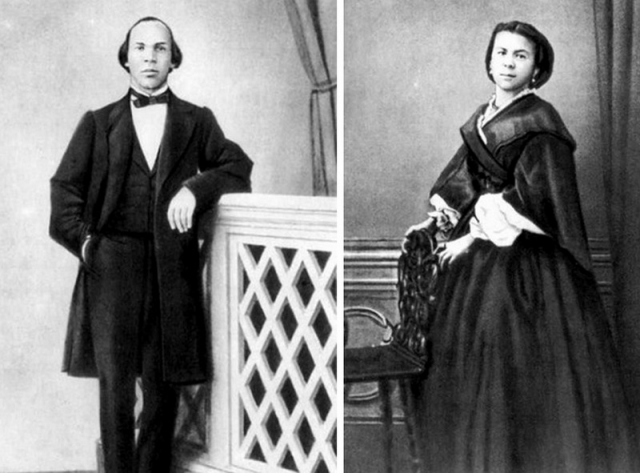 Родители Ленина. Мария Александровна Бланк родилась в Санкт-Петербурге, получила очень хорошее образование, выучила несколько языков, и вышла замуж за сослуживца своей сестры Илью Николаевича Ульянова.