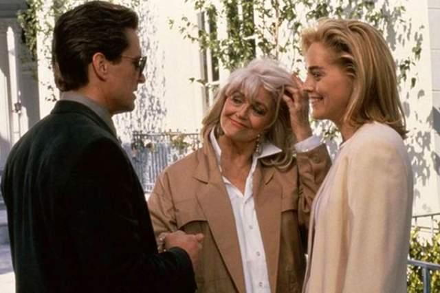 """Ее последнее появление на киноэкране можно увидеть в """"Основном инстинкте"""", где актриса сыграла подругу главной героини, отсидевшей солидный срок за убийство своей семьи."""