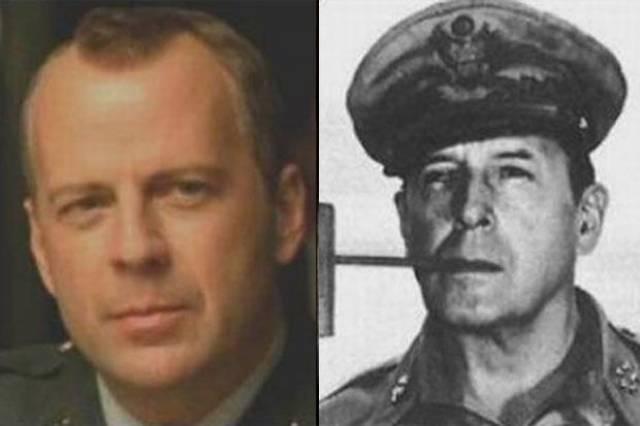 Брюс Уиллис и легенда Второй мировой - генерал Дуглас Макартур.