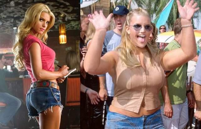 """Джессика Симпсон Одна из самых сексуальных знаменитостей, попавших в наш список, """"Блондинка с амбициями"""" Джессика Симпсон сделала успешную карьеру актрисы, певицы и телеведущей, но после ее необъяснимого преображения на нее стало больно смотреть."""