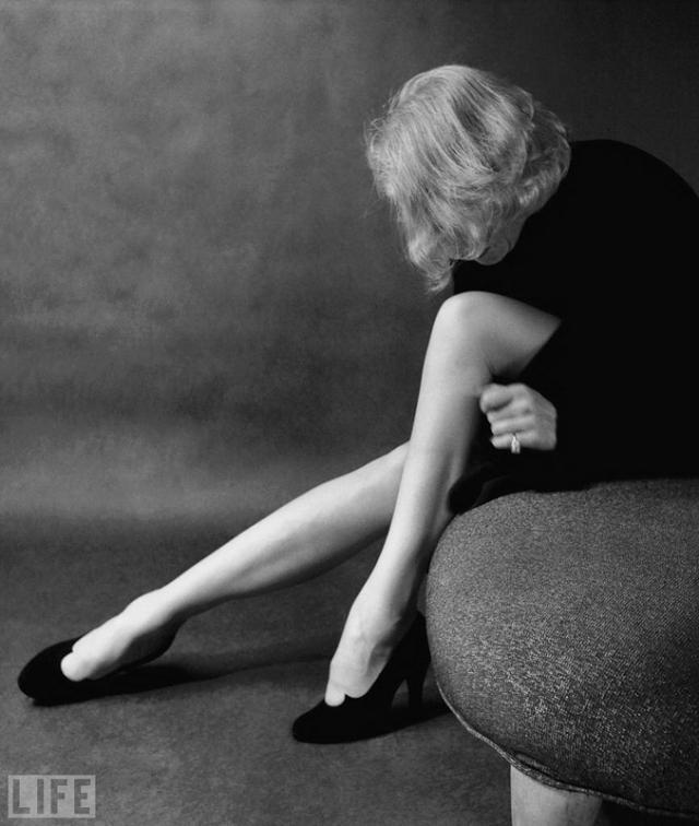 Марлен Дитрих (Milton Greene, 1952). Звезда эмигрировала в США из Германии во время войны.