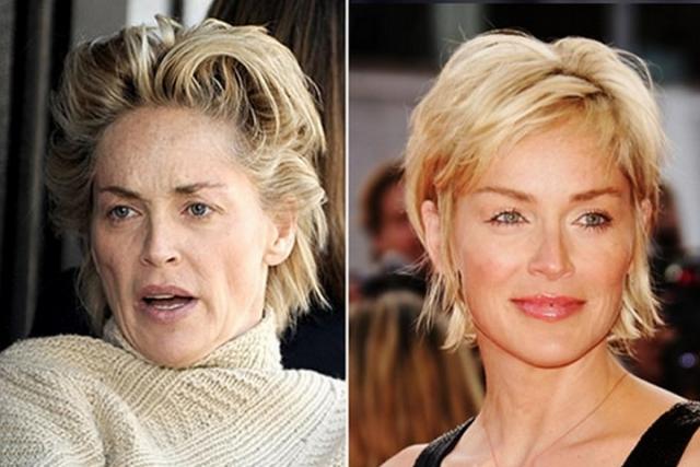 """Шэрон Стоун. 59-летняя актриса часто появляется в объективах папарацци в """"домашнем"""" виде."""