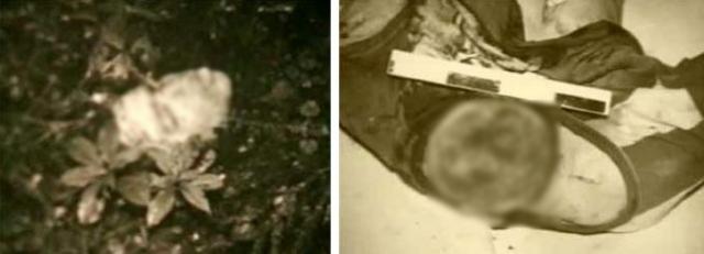 Убедившись в смерти ребенка, маньяк подвесил его за ноги на крюк в стене, отрезал нос и уши, голову, нанес множество ударов ножом по туловищу, вырезал внутренние и половые органы.