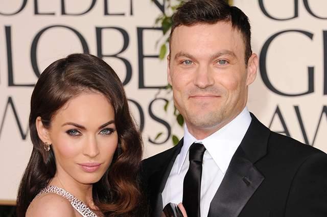 """Меган Фокс и Брайан Остин Грин. Актриса и фотомодель вышла замуж в 2010 году за звезду сериала """"Беверли Хиллз, 90210"""". У пары трое совместных детей."""