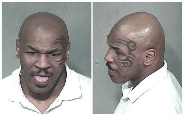 Майк Тайсон. Боксера задержали за управление транспортным средством под воздействием алкоголя и кокаина в 2008 году.