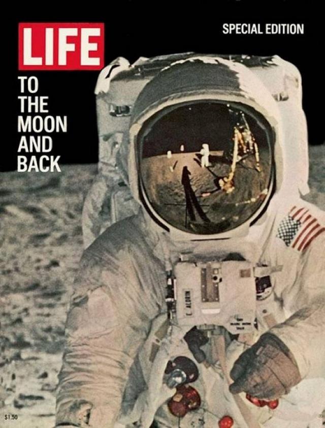 LIFE, спецвыпуск 1969. Посвящен высадке на Луну американских космонавтов. На обложке Базз Олдрин, сфотографированный Нилом Армстронгом.