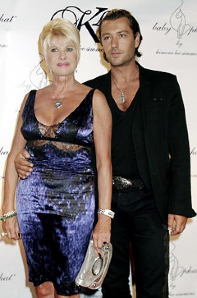 Ивана Трамп и Россано Рубиконди (разница - 17 лет). Бывшая спортсменка после развода с Дональдом Трампом вышла замуж за молодого возлюбленного. На тот момент ей было 59, ему - 36 лет.