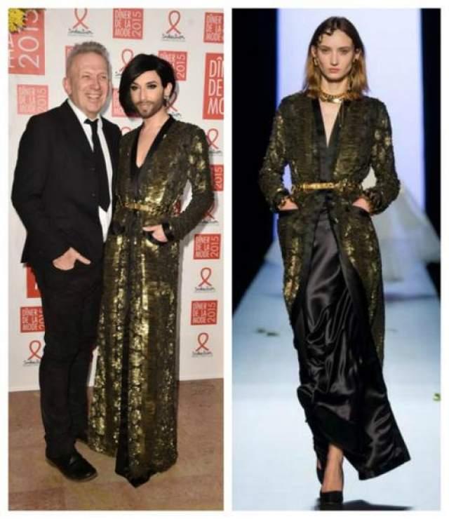 Кончита Вурст в наряде из коллекции Kean Paul Gaultier Couture Spring 2015