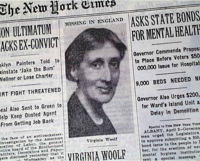 В 1941 году Вирджиния Вулф утопилась в реке Оуз неподалеку от своего дома в графстве Суссекс.