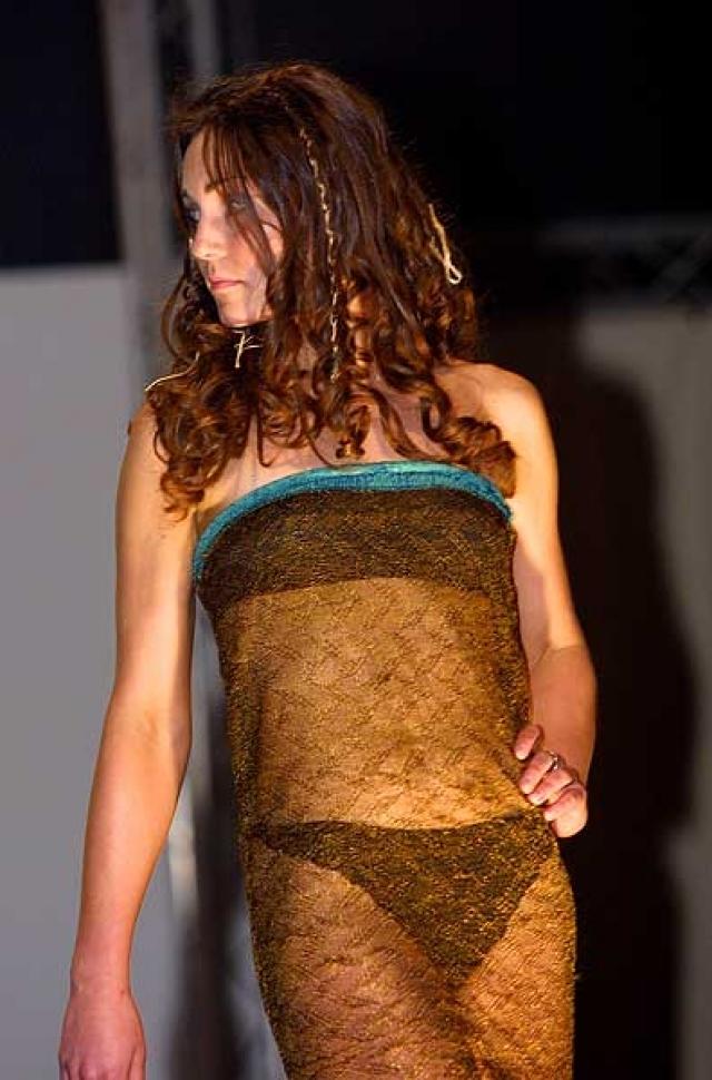 Все изменилось в марте 2002 года, когда на благотворительном показе мод в университете Кейт появилась в прозрачном платье и продефелировала прямо мимо сидящего в первом ряду принца Уэльского.