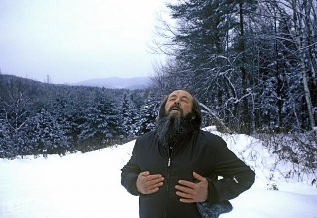 Свободное дыхание (Harry Benson). Александр Солженицын в Вермонте.
