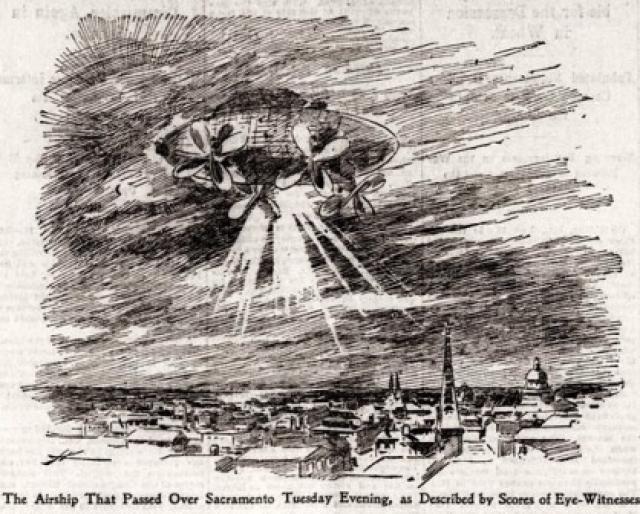 Официальный отчет таких наблюдений можно вести с появления в ноябре 1896 года таинственного светящегося объекта, который медленно перемещался над городом Сакраменто, штат Калифорния, что наблюдали сотни человек.