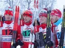Российские лыжники впервые за много лет выиграли эстафету на Кубке мира