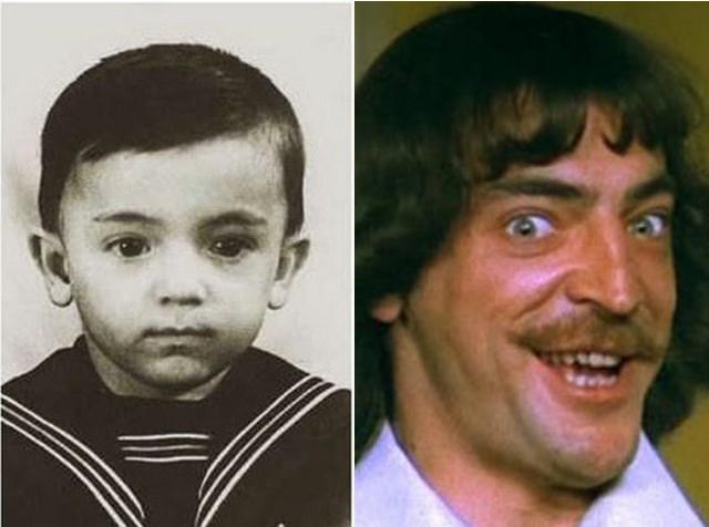 Представьте себе, Михаил Боярский в детстве был безусым, вопреки многим шуточным домыслам.