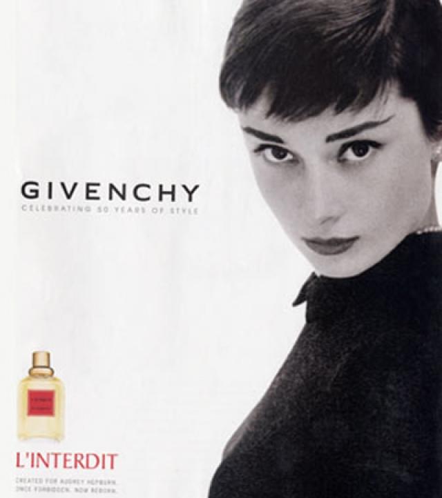 Дружбу с Живанши актриса пронесла через всю жизнь, став его постоянной клиенткой. Свои первые духи L`Interdit Юбер посвятил именно Одри.