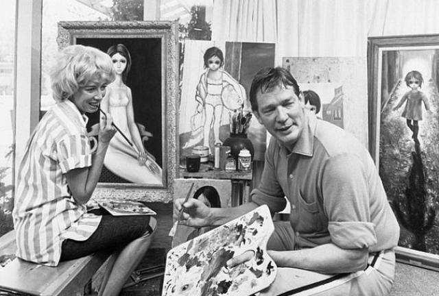 И как же была шокирована публика, когда узнала, что автором этих картин была жена Уолтера, которая работала на него, как гастарбайтер, в подвале или в комнате с зашторенными окнами и закрытой дверью в течение многих лет.